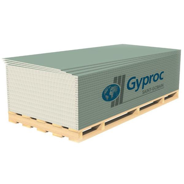 Влагостойкий гипсокартонный лист Gyproc ГКЛВ 12,5 мм